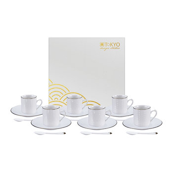 Nippon White Espresso Set - Set of 18 Pieces