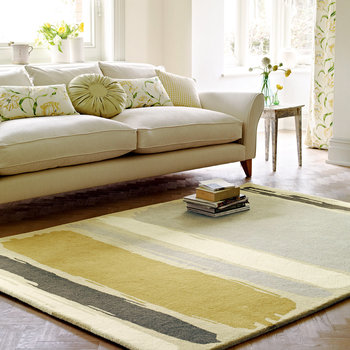 Abstract Linden/Silver Rug