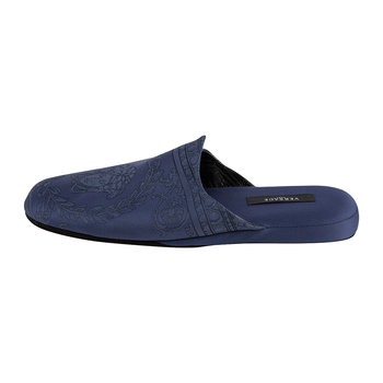 I Love Baroque Luxe Slippers - Blue