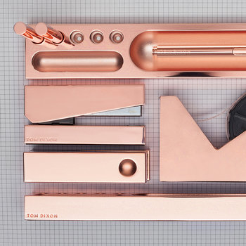 Cube Desk Tidy - Copper