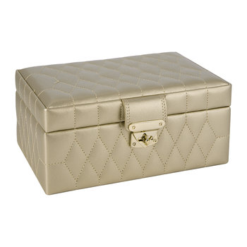 Caroline Small Jewellery Box with Travel Case - Champagne
