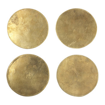Brass Coasters - Set of 4