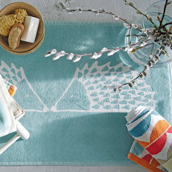 Spike Bath Mat - Aqua
