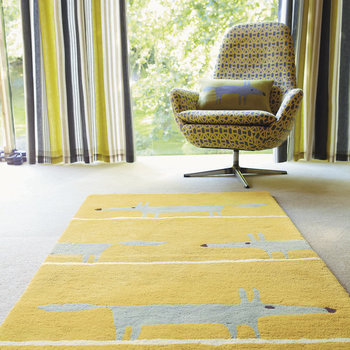 Tapis Mr Fox - Moutarde