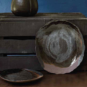 Wabi Dessert Plate - Dark Brown