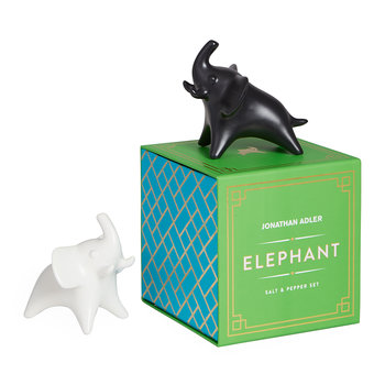 Elephant Salt and Pepper Shakers - Black/White