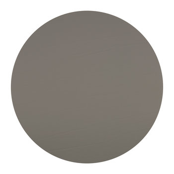 Round Leather Placemat - Taupe