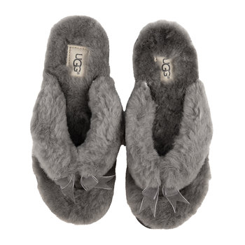 Women's Fluff Flip Flop III Slippers - Gray