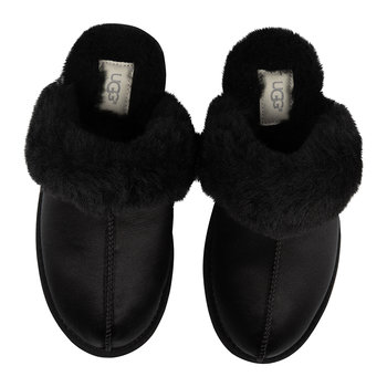Women's Scuffette II Satin Slippers - Black