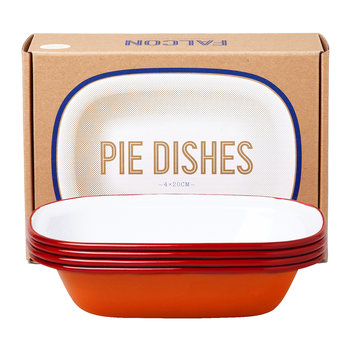 Pie Dishes - Set of 4 - Pillarbox Red