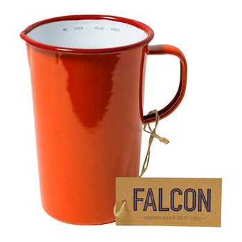 Pillarbox Red Enamel Pitcher - 2 Pints