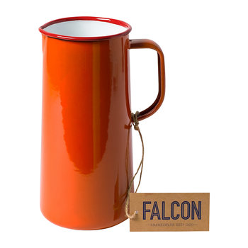 Pillarbox Red Enamel Pitcher - 3 Pints