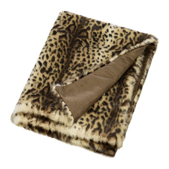 Faux Fur Throw - Ocelot
