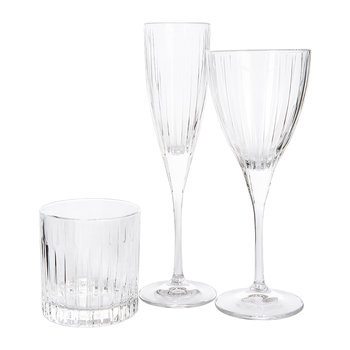 Linear Champagne Flutes - Set of 6