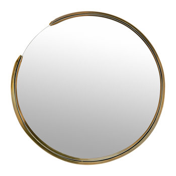 Asymmetric Framed Mirror - Gold