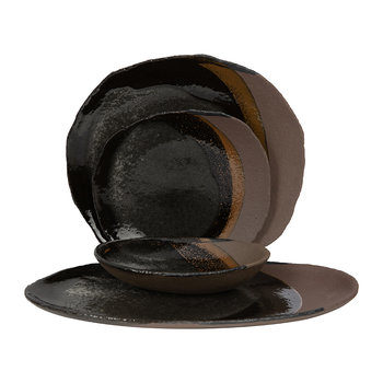Wabi Oval Bowl - Dark Brown