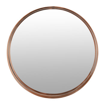 Round Border Mirror - Copper