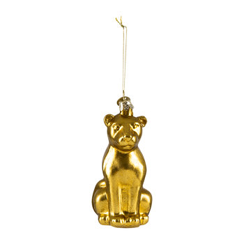 Old Panther Tree Decoration - Gold - Large