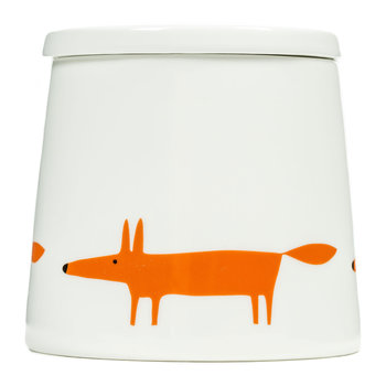 Mr Fox Storage Jar - Ceramic/Orange