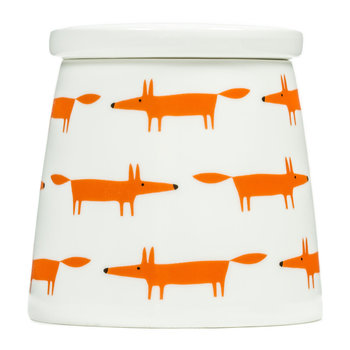 Mr Fox Storage Jar - Ceramic/Orange Multi