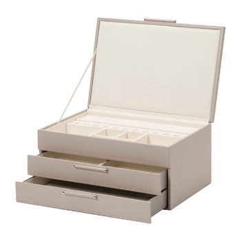 Sophia Leather Jewellery Box - Mink