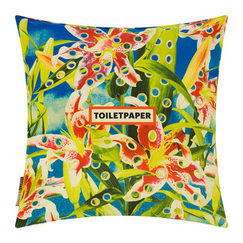 Toiletpaper Cushion Cover - 50x50cm - Flowers with Holes