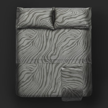 Limited Edition Macro Zebrage Bed Sheet Set - Grey