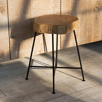 Tree Slice Stool - Straight Legs