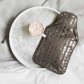 Bubble Embroidered Hot Water Bottle - Gray