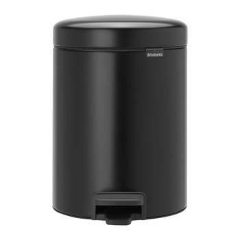 NewIcon Pedal Bin - 5 Liters - Matt Black