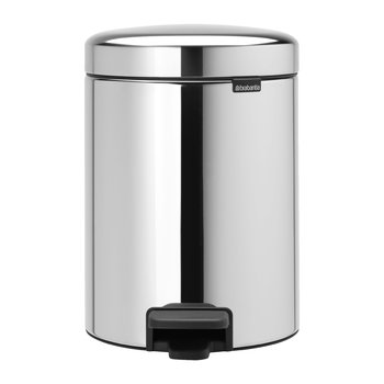 NewIcon Pedal Bin - 5 Litres - Brilliant Steel