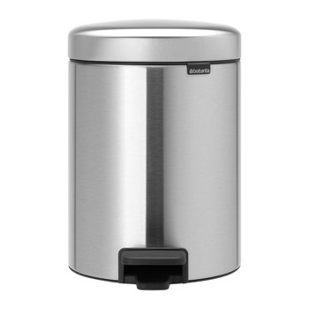 NewIcon Pedal Bin - 5 Liters - Matt Steel