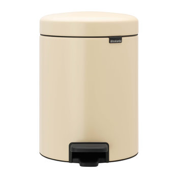 NewIcon Pedal Bin - 5 Liters - Almond
