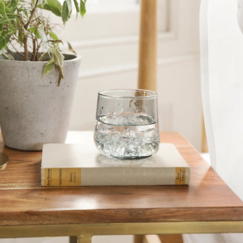 Hammered Glass Tumblers - Set of 6 - Grey