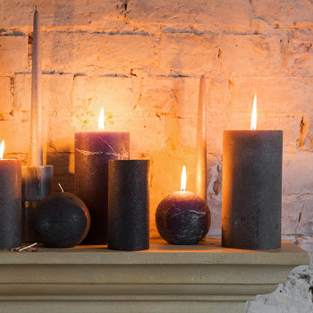 Rustic Spherical Candle - Grape