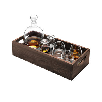 Whisky Islay Connoisseur Set & Walnut Tray