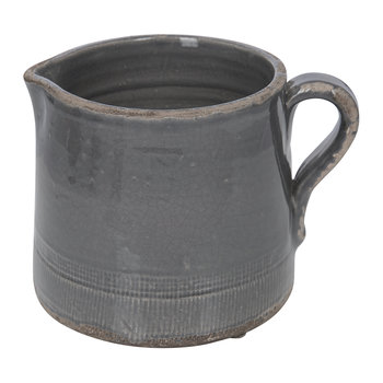 Catina Ceramic Pitcher - Dark Gray