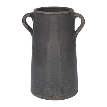 Catina Ceramic Vase - Dark Grey