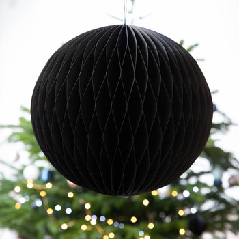 Large Paper Honeycomb Ball Decorative Ornament - Black