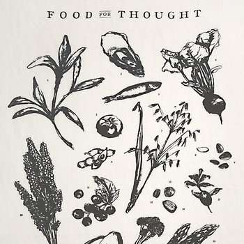 Food for Thought Linen Tea Towel