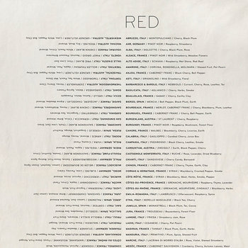 Wine List Linen Tea Towel