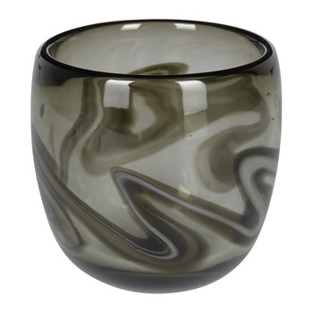 Marbled Grey Glass Votive