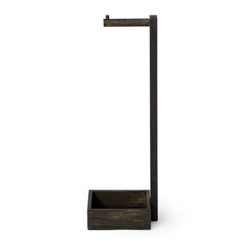 Free Standing Toilet Roll Holder - Dark Oak