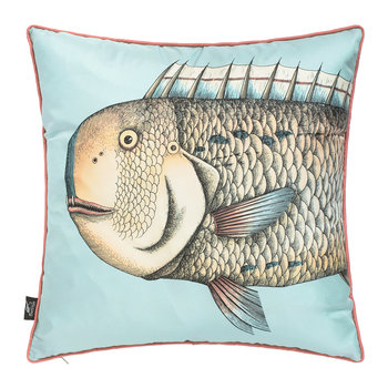 Grande Pesce Silk Reversible Cushion - Set of Two - 45x45cm