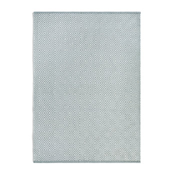 Diamond 100% Recycled Rug - Sky Grey