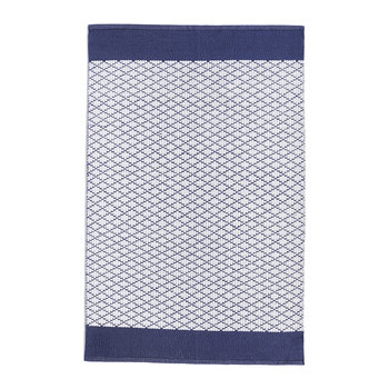 Trellis 100% Recycled Rug - Navy