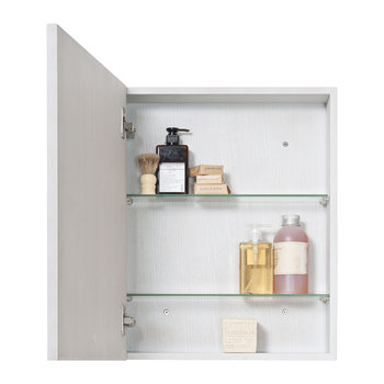 Slimline Bathroom Cabinet - Oyster Oak