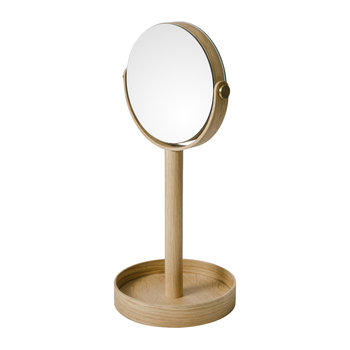 Magnify Mirror - Oak
