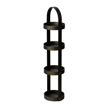 4 Tier Bathroom Round Caddy - Dark Oak
