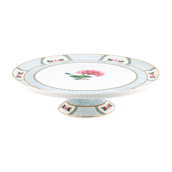 Blushing Birds Cake Stand - White